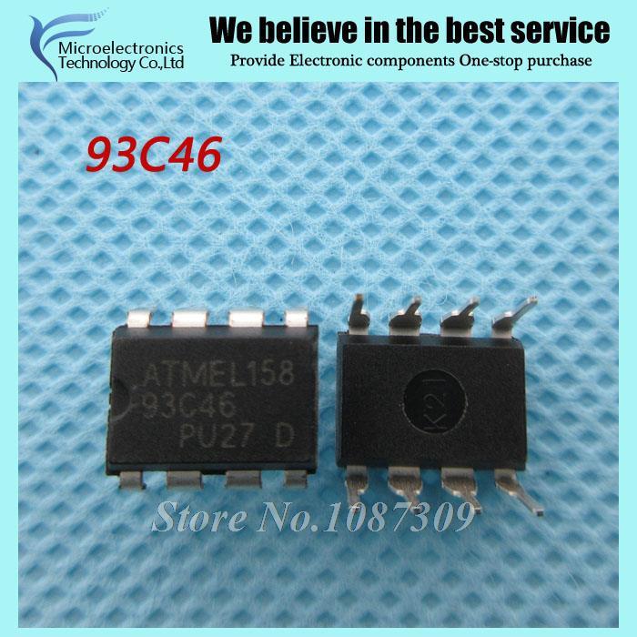 10 шт. AT93C46 93C46 DIP-8 EEPROM 64 x 16