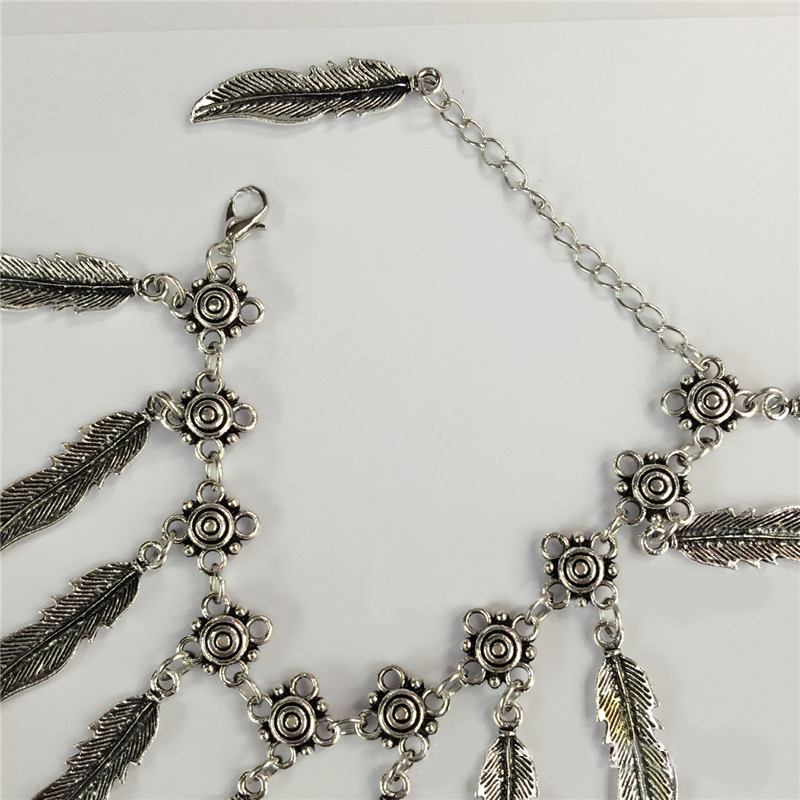 H:HYDE Hot Sale Vintage Bracelet Fashion Thai silver Bracelets for Women Unique Leaf Charm Bracelets Bangles Luxury Jewlery