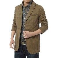 Hot Sale Shirt Men's Casual Cotton Slim Fit Blazer Parka Army Green Army Black Jacket