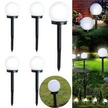 Садовый светильник, водонепроницаемый светодиодный светильник на солнечной батарее, ландшафтный уличный садовый светильник для газонов, декоративные лампы для газона, водостойкие точечные лампы, 2 шт