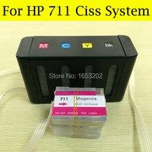Freie Post!! Continuous Ink Supply System Für HP T120 T520 Mit Leere Tintenpatrone Für HP 711 Ciss