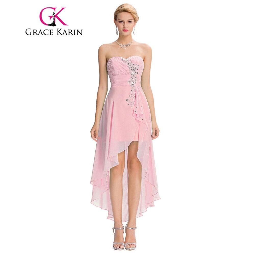 Gracia Karin trasero largo delantero corto vestido de noche turquesa ...