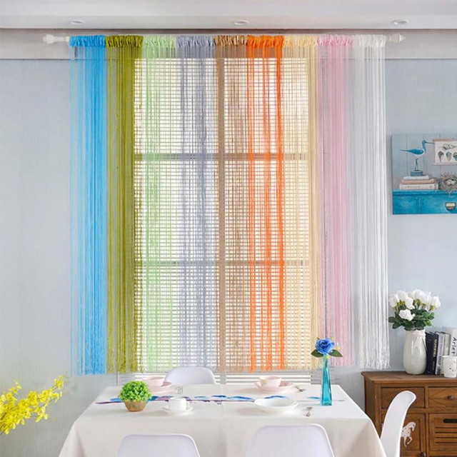 100cmx200cm Window Curtain Fashion String Curtains Patio Door Fly ...