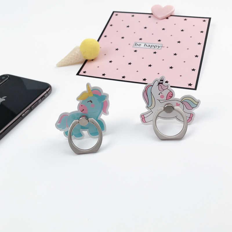 Grosir Kartun Soket Universal Ponsel Jari Cincin Pemegang untuk Semua Ponsel Memperluas Ponsel Berdiri Jari Dudukan Telepon Mobil