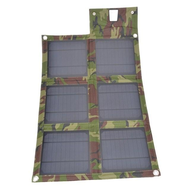 6x universal banco de potência usb carregador de painel solar dobrável ao ar livre portátil camping saco de carregamento para o iphone para xiaomi powerbank