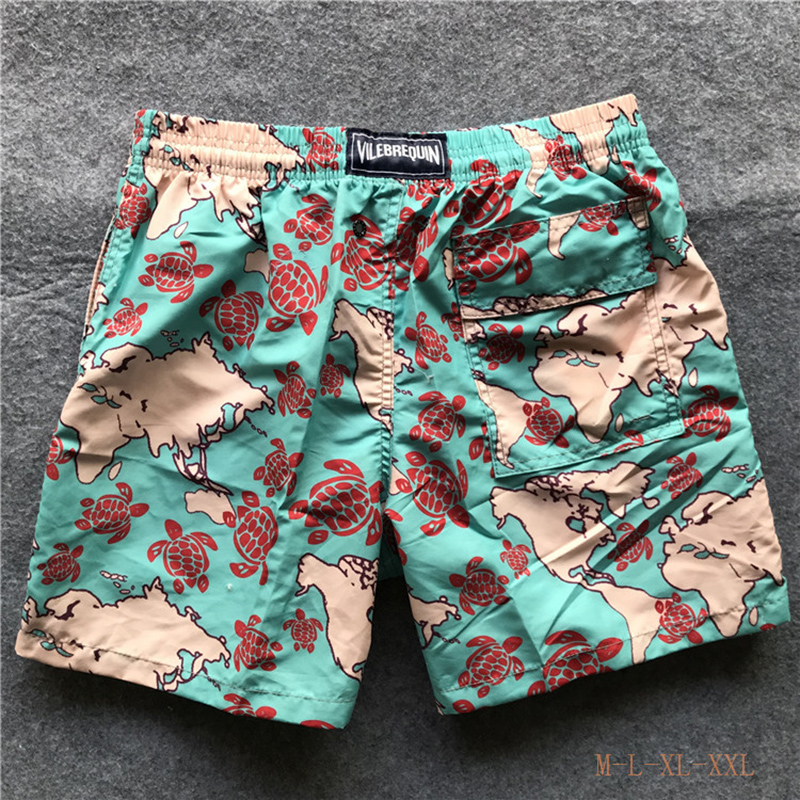 Vilebrequin SwimtrunksNew Quick Dry Mens Swim   Shorts   Summer   Board   Surf Swimwear Beach   Short   Male Running Gym Man Boardshorts