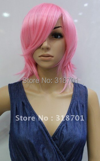 (Free Shipping)hot Pink Hair Pokemon Cosplay Wigs. A variety of colors