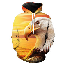 2019 new hoodies man Hot Selling Fashion Eagle printed Hooded Sweatshirt Pullover tops