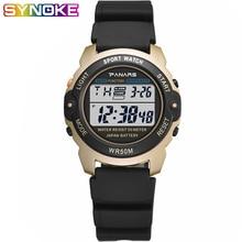 PANARS Outdoor Sports Watch Digital Watches Mens Waterproof Alarm Clock 5Bar LED Black Fashion Chronograph