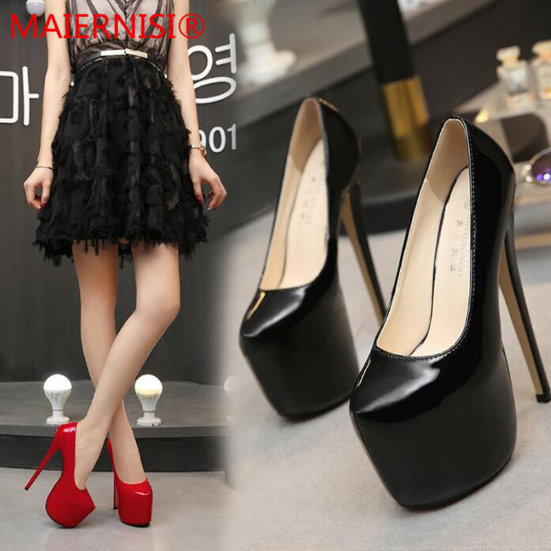 Women Pumps High Heels Shoes 18 cm Black Pointed Toe Woman Shoes Sexy Party Shoes Nude Heels for Women Plus Size big size 40 41 42 women pumps 11 cm thin heels fashion beautiful pointy toe spell color sexy shoes discount sale free shipping