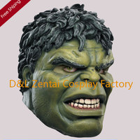 Free Shipping Head Rubber Latex Mask Cartoon Hulk Mask For Carnival And Party Halloween MK1142