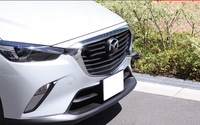 2015 2016 2017 2018 Accessories For Mazda CX 3 CX3 CX 3 ABS Chrome Front Grille Hood Trim car styling 1pcs