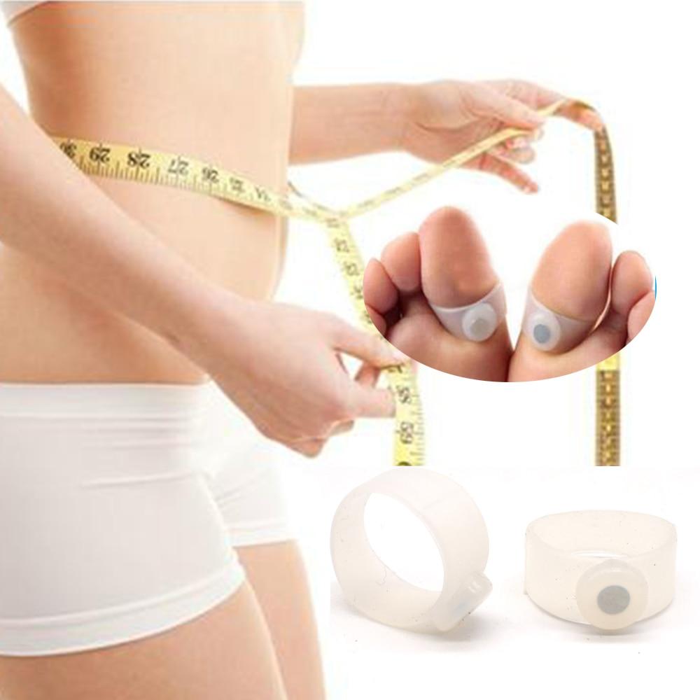 Schlankheits-cremes 4 Pcs Magnet Abnehmen Neue Technologie Gesunde Schlank Kappe Ring Aufkleber Silikon Fuß Massage Gewicht Verlust Zu Verlieren A464 Gesundheitsversorgung