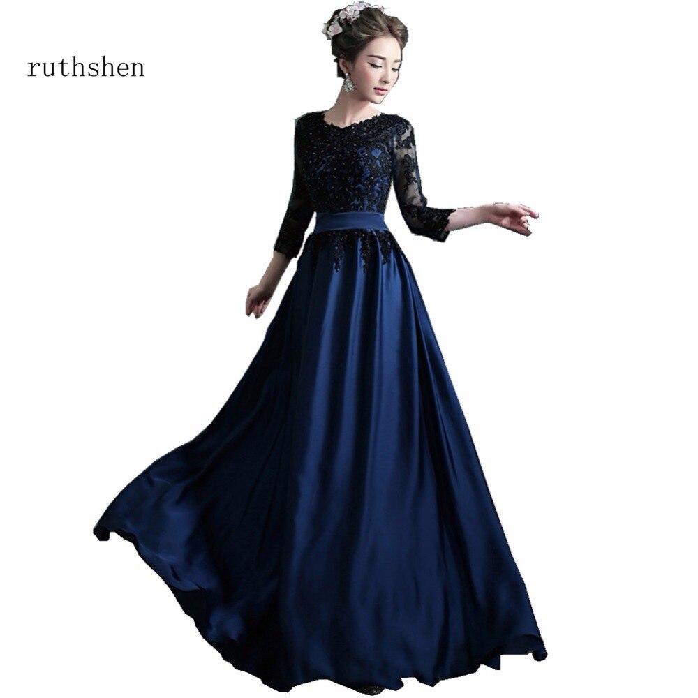 Ruthshen Luxe Longues Robes De Soirée À Encolure En Dentelle à encolure Spéciale Robes De Soirée Robe De Soirée Sirène Robes De Noite 2018