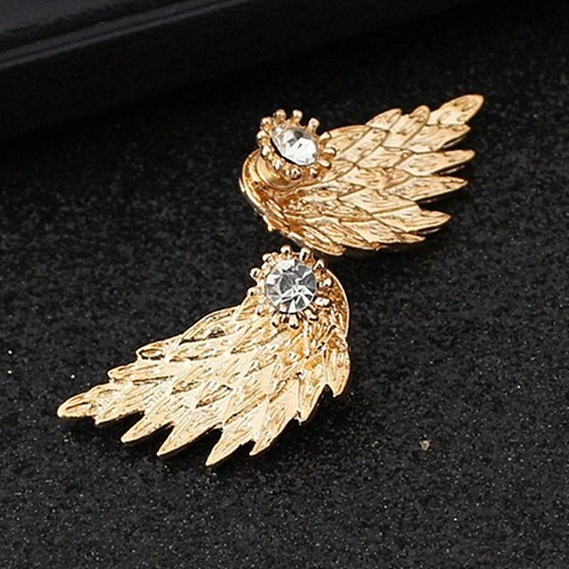 HTB1YA7vOFXXXXb6XVXXq6xXFXXXG Women's Angel Wings Rhinestone Stud Earrings - 2 Colors