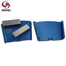 цена RIJILEI 6PCS HTC Diamond Grinding Disk Metal Plate for Stone and Concrete Floor Grinding Diamond Grinding Disc JX06