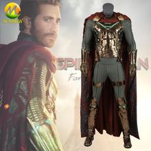 Marvel Spider-Man: Far From Home Mysterio Cosplay Costume Quentin Beck Halloween Full Set For Adult Men