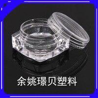 100 PZ-Clear Quadrato di Plastica Vaso Cosmetico Contenitore Del Campione di Trucco Balsamo per le labbra 5 ml, MLO11JB