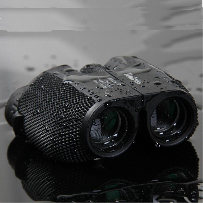 Frete grátis 10X25 HD All-optical binóculos filme verde telescópio binóculos à prova d' água para viagens com bak4 prisma gota de venda