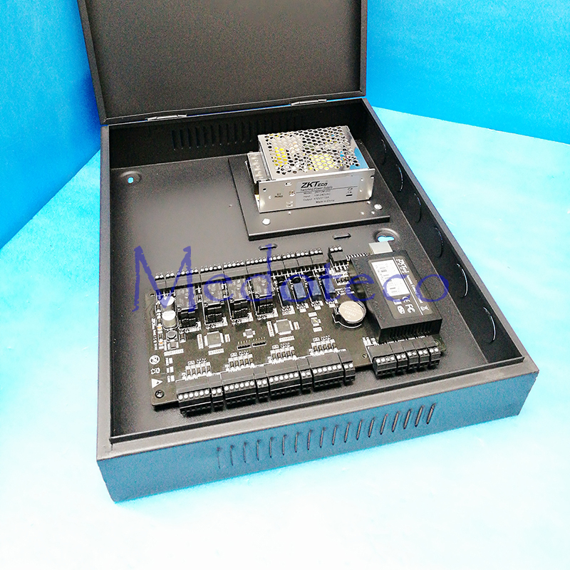 TCP/IP 4 doors access control panel access control board C3 400 door access control system + PSM030B Power Supply Unit and Box