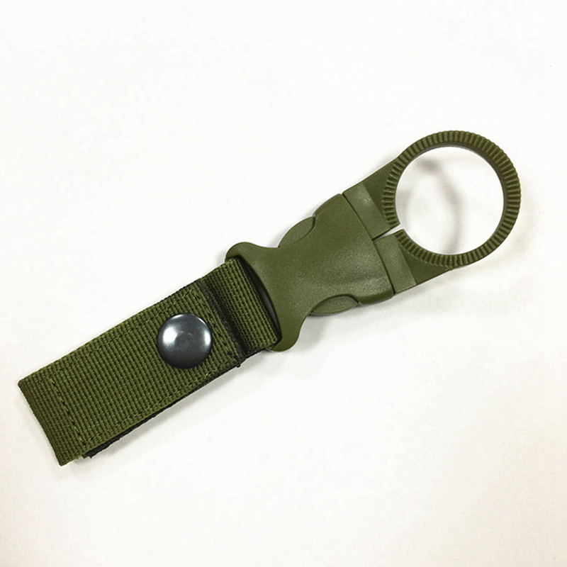 Tactical Nylon Water Bottle Hanger Hook Multifunction Molle Webbing Backpack Carabiner Camping Hike Hook Travel Kit Tool Clip (1)