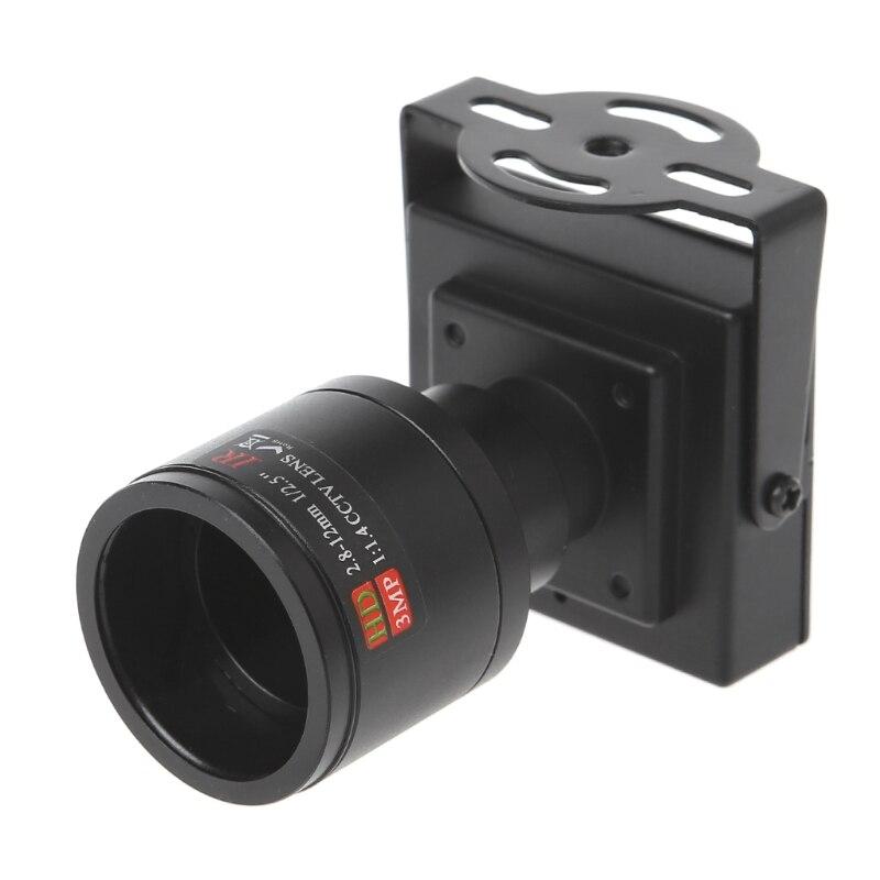 700TVL Mini caméra de vidéosurveillance à objectif  2.8 12mm pour la sécurité, le dépassement de voiturePièces pour dispositif de vidéosurveillance   -