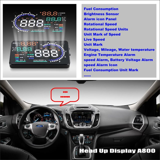 Car Hud Head Up Display For Ford Escape Maverick Mariner 2001 2006 Safe Driving Screen Projector Refkecting Windshield