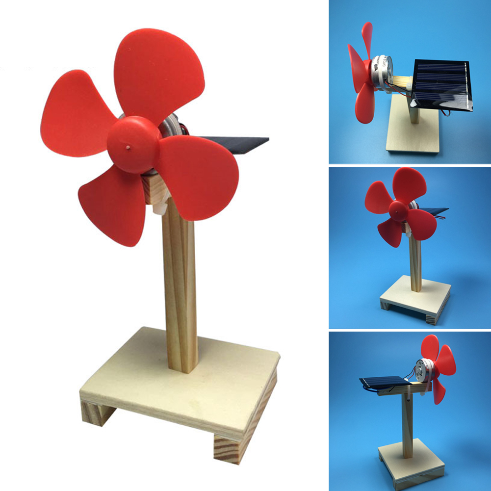 2019 New Design Educational Toys Mini Solar Power Fan Children Brain Training Kit