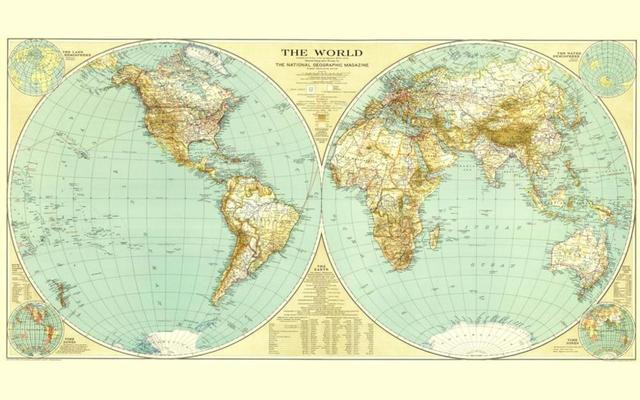 Old world map cartography geography 4 sizes home decoration canvas old world map cartography geography 4 sizes home decoration canvas poster print gumiabroncs Images