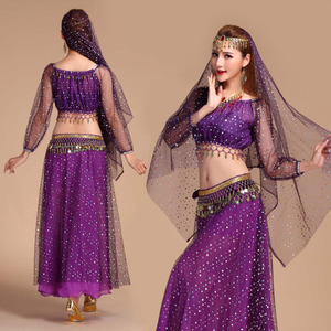 Image 1 - Luxury Indian Dance Costumes Sets Stage Performances Dress Orientale Belly Dance Costume Set For Women Oriental Dance Costumes