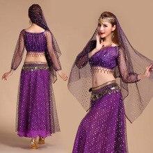 יוקרה סטי מופעים במה תלבושות ריקוד הודיות dress תלבושות ריקוד סט תלבושות ריקודי בטן לנשים מזרחי orientale