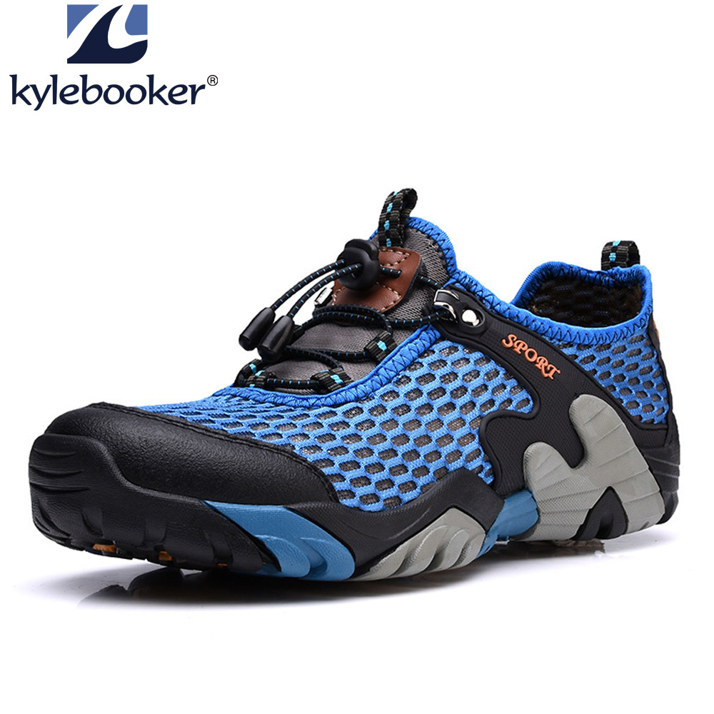 Men Breathable Trekking Aqua Shoes Men Water Sports Upstream Shoes Wading Hiking Outdoor Sneakers Walking Fly