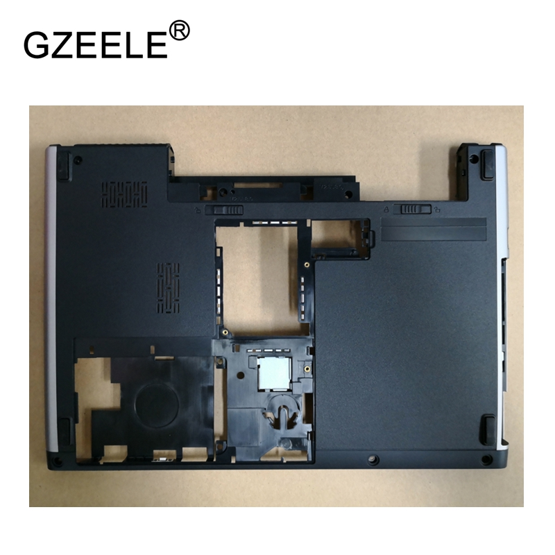 GZEELE New Laptop Bottom Base Case Cover For Dell Vostro 3300 V3300 Base Chassis D Cover Case shell lower cover BLACK 02k99f gzeele new laptop bottom base case cover for dell xps 15 l501x l502x series lower case pn 70fm3 070fm3 assembly silver