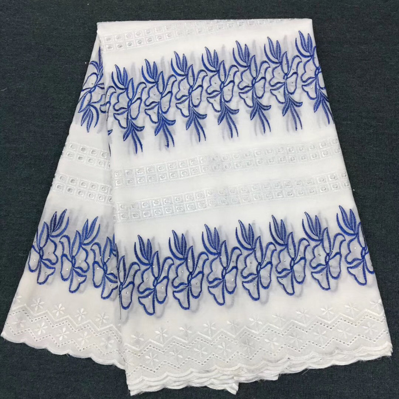 8 colors (5yards/pc) embroidered Swiss cotton lace fabric blue white African voile lace fabric 2018 for party dress  CLS1978 colors (5yards/pc) embroidered Swiss cotton lace fabric blue white African voile lace fabric 2018 for party dress  CLS197