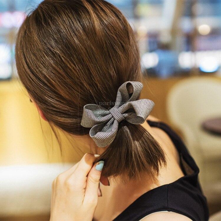 Korean Version Of The Fashion Wild Bow Elastic Hair Band Girl Hair Rope Rope Rubber Band Women Hair Band Hair Accessories
