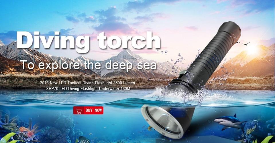 1 xhp 70 led diving flashlight torch