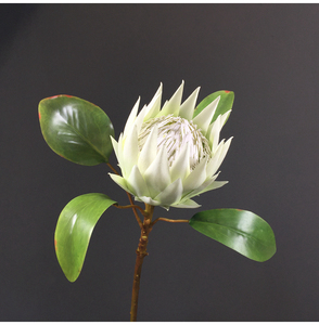 Image 5 - Pastoral Style 1 Piece Fake Flower Beautiful The King Protea Handmade Artificial Flowers Display Home Decorative Silk Flowers