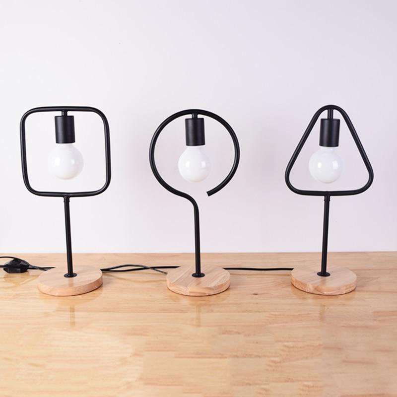 Creative desk lamp Nordic simple modern warm light LED energy-saving lamp desk Decoration desk lamp bedroom bedside A1