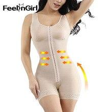 FeelinGirl Fajas Colombianas Reductora tam vücut şekillendirme zayıflama shapewear Overbust doğum sonrası kurtarma Bodysuit bel şekillendirme