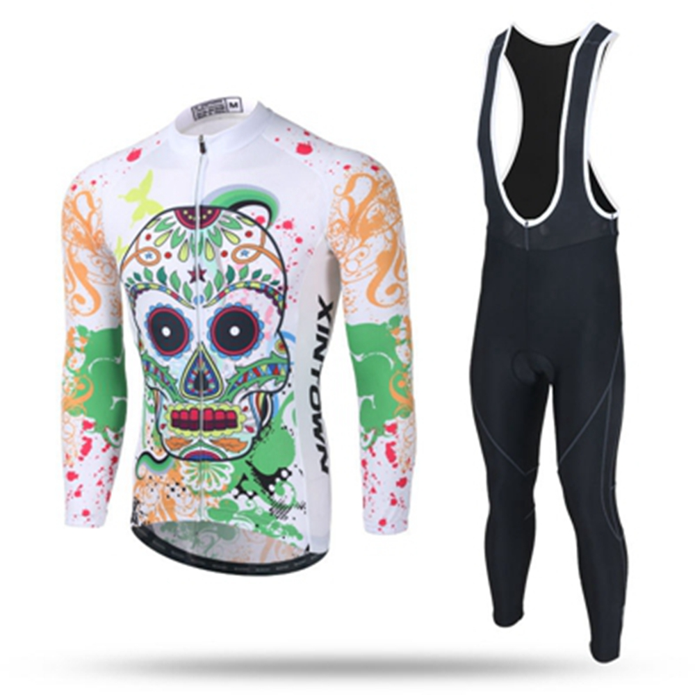 2019 Cycling Long Sleeve Jersey pants set Shirts Ciclismo Mtb Bike Cycling Maillot Clothing for Men Ropa ciclismo white skull xintown black red ropa ciclismo maillot trouser mtb bike jersey bib pant set men cycling clothing suit riding long sleeve jacket