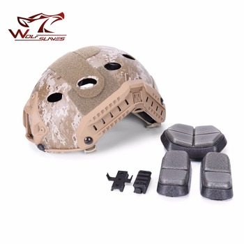 High Quality Tactical FAST Helmet PJ Type Nary Version Paintball Military Adjustable CS Jump Protective Helmets