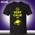 new Fashion Classic Style Keep Calm And Carry On Snorlax Sleep On Pokemon T Shirt Casual Music Rock N Roll Band T Shirt