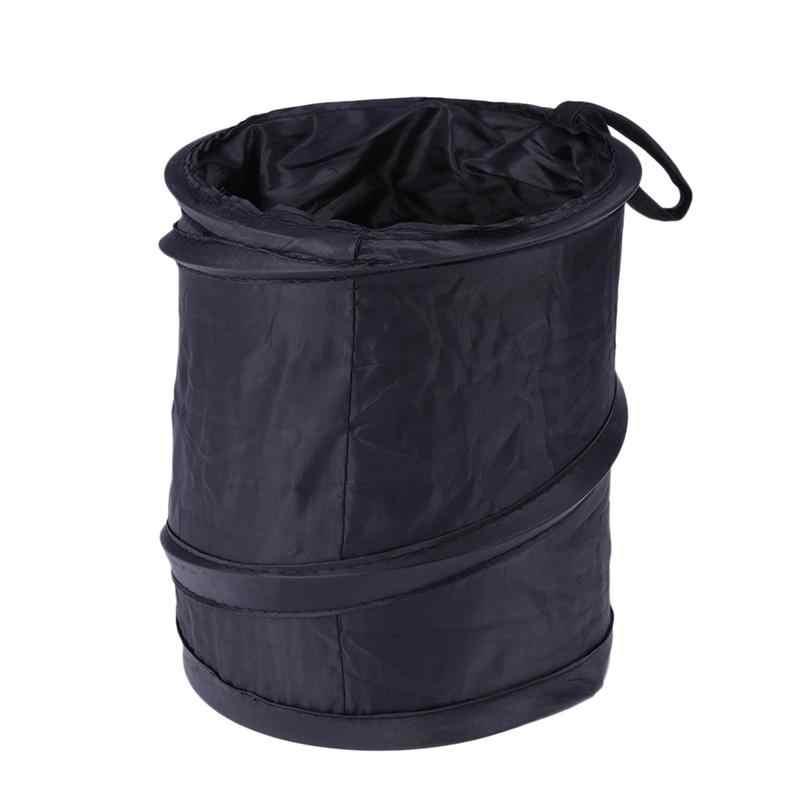 Lixo carro Lata De Lixo Dobrável Armazenamento Barrel Bin Poeira Acessório Do Veículo