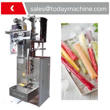 Automatic juice ice lolly packing machine freeze pop filling packaging machinery liquid ice lolly sealing packaging machinery fruit juice jelly stick bar sachet filling packing
