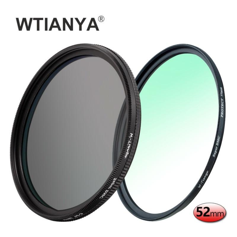 WTIANYA 52mm Multi-coated Circular Polarizer and MC UV Slim PRO Filter Kit for 52 mm Digital Cameras Lens