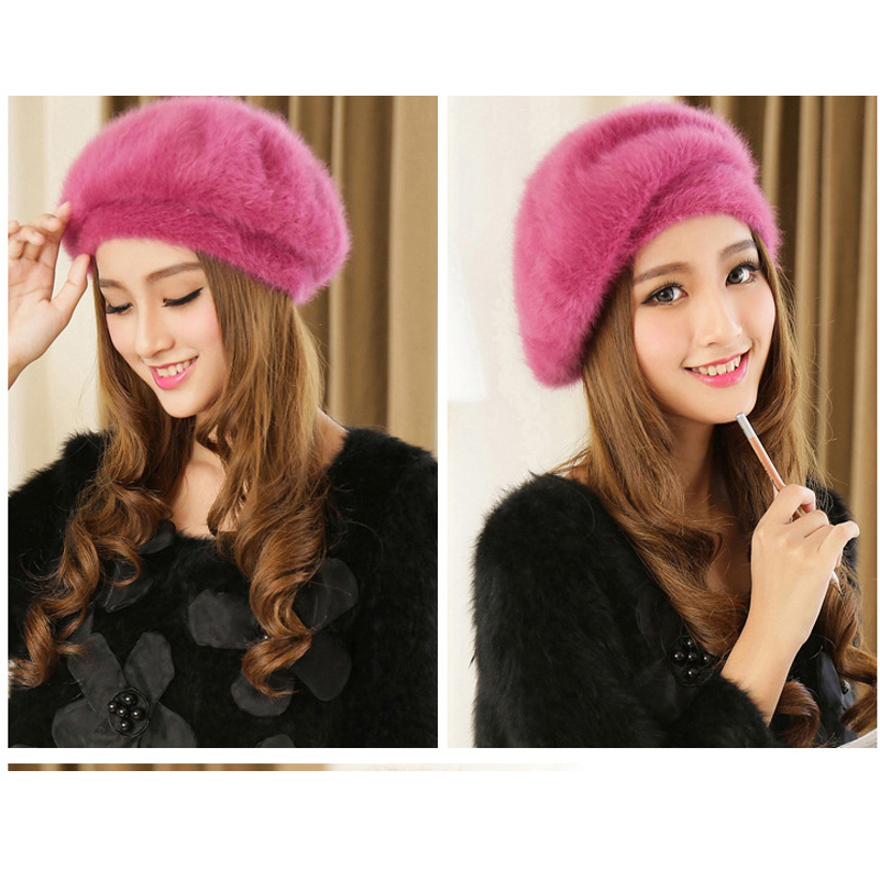 e5285316 Товар Korea Style Female Cute Fur wholesale sable beret qiu dong ...