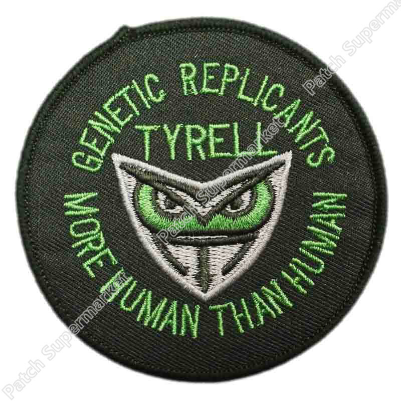 Blade Runner Tyrell Genetic Replicants Logo patch Embroidered Movie TV Series applique Sew On iron on