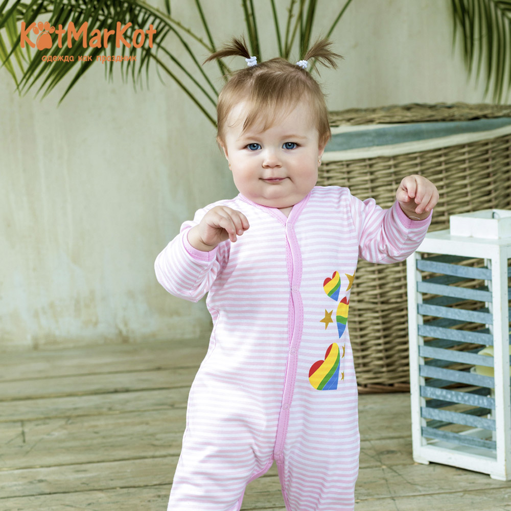 Rompers Kotmarkot 6295р overalls for newborn sandpiper baby clothes romper Cotton cat sotmarket Baby Girls Print