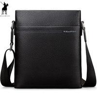 2019 Новый WILLIAMPOLO сумка люксовый бренд Мужская сумка через плечо кожаные сумки Bolsas Grande черная кожа воловья кожа PL001D