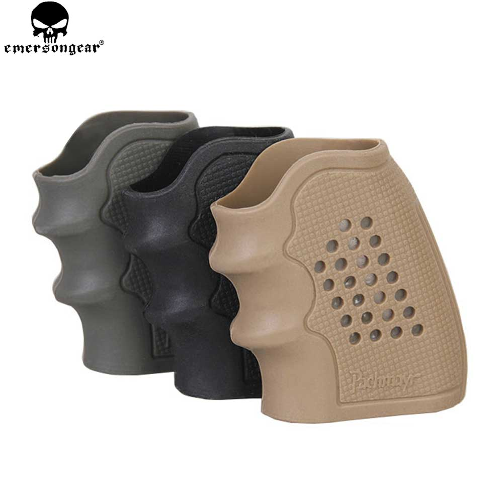 EmersonGear Tactical Pistol Rubber Antiskid Rubber Grip For Volver Pistol Anti Slip Revolver Handgun Airsoft Hunting Accessories